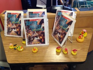 Pirate ducks in the Litchfield Intermediate School library. Awesome!